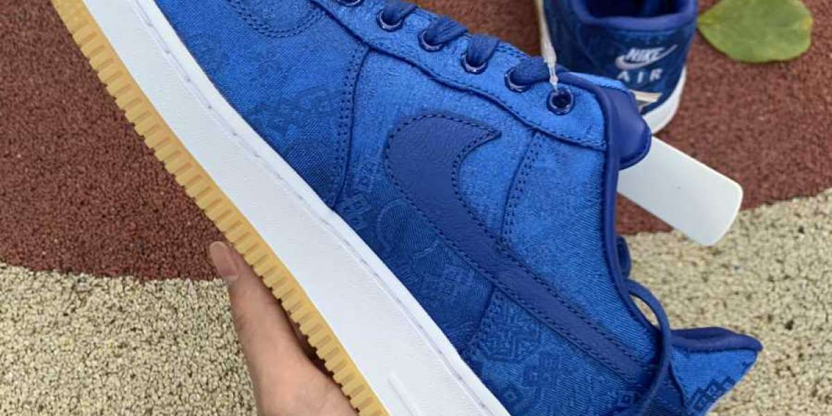 2020 Nike Air Force 1 Low CLOT Blue Silk CJ5290-400 New Release