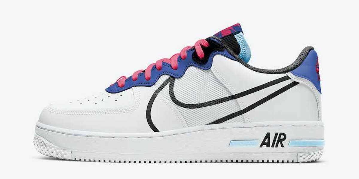 2020 Nike Air Force 1 React White Astronomy Blue
