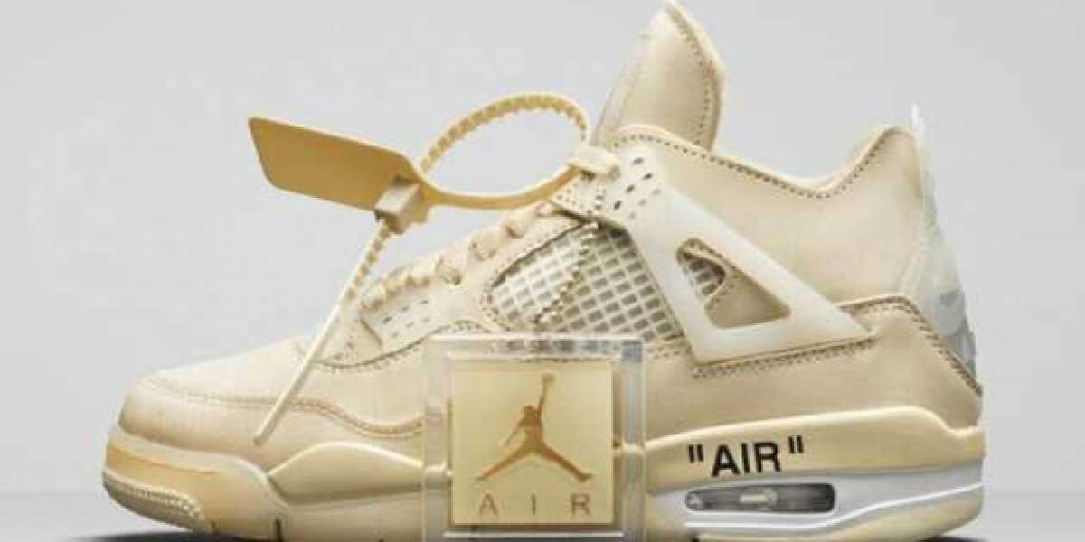 "Do you also want to bring a pair of Off-White x Air Jordan 4 ""Sail"" to support public welfare?"