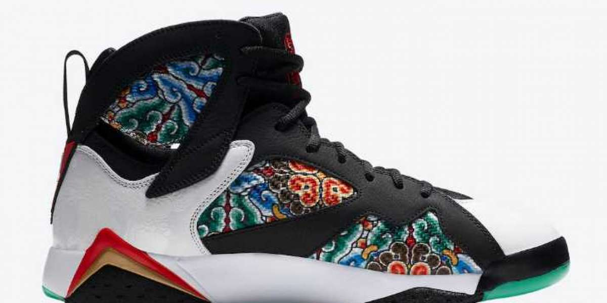 """This pair of China-limited Air Jordan 7 has picturesque details! Air Jordan 7 GC """"China"""" Newest CW2805-160"""