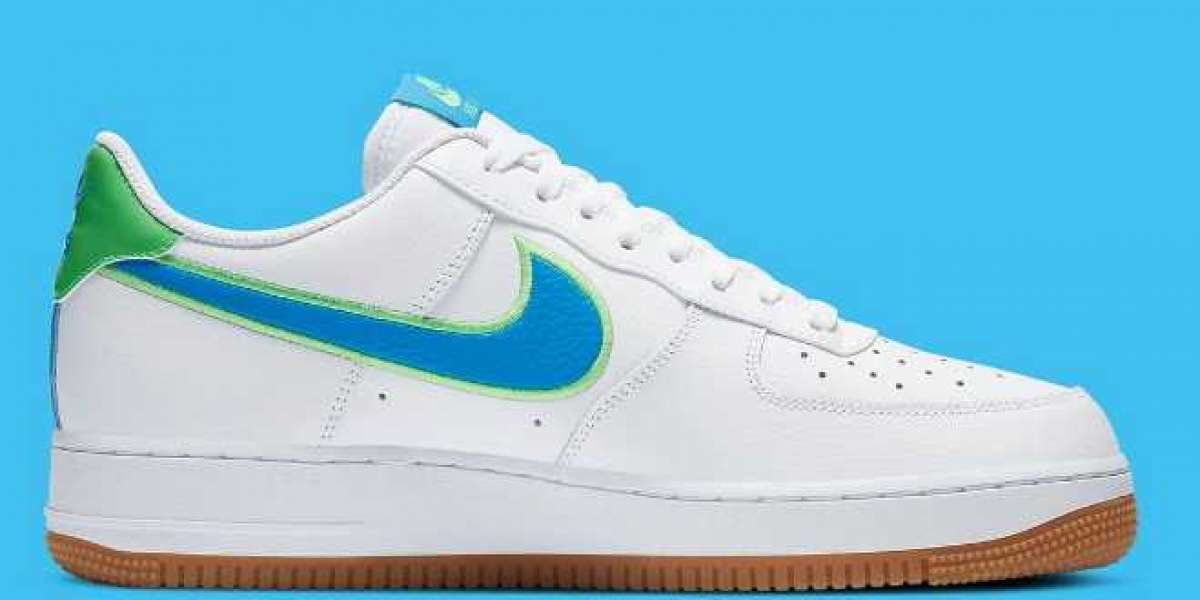2020 Best Deal Nike Air Force 1 Low White Blue Green