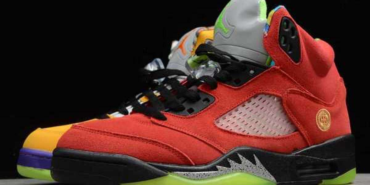 """Nike Jordan shoes that boys and girls can buy! The eight-in-one Air Jordan 5 """"What The"""" is now on sale."""