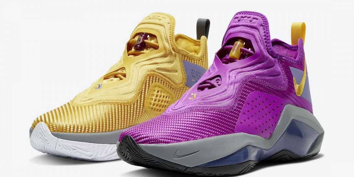 """CK6047-500 Nike LeBron Soldier 14 """"Lakers"""" Basketball Shoes"""