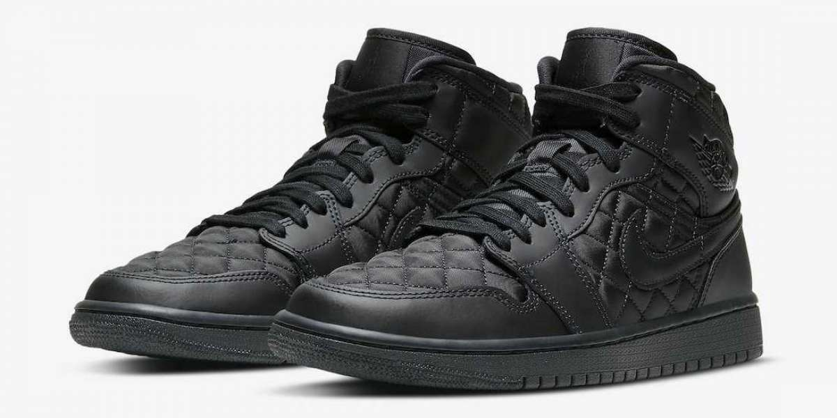 "DB6078-001 Air Jordan 1 Mid SE ""Black Quilted"" coming soon"