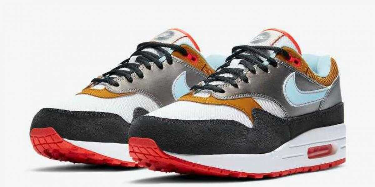2020 Nike Air Max 1 Silver Black Bright Red Coming Soon