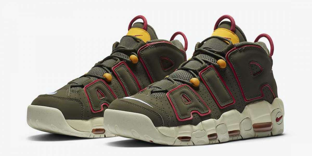 """New Release Nike Air More Uptempo """"Khaki"""" DH0622-300 Is a Fall Vibe"""