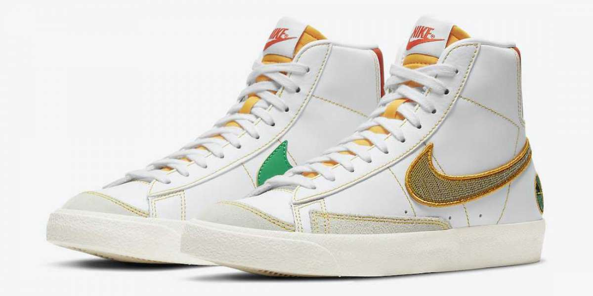 "New 2020 Nike Blazer Mid GS ""Raygun"" Basketball Shoes DD9528-100"