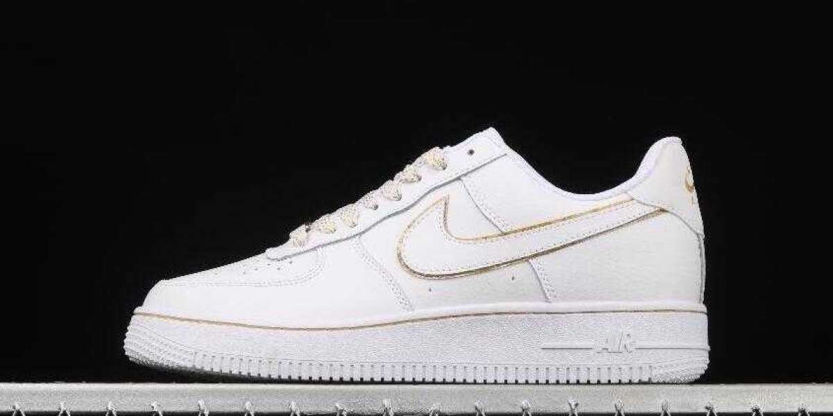 2020 Nike Air Force 1 Upstep White Gold is Hot on the TikTok