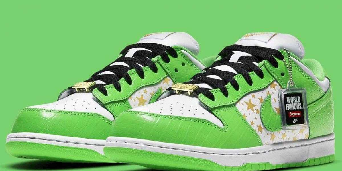 Nike SB Dunk Low Coming With White Metallic Gold Mean Green Colorway
