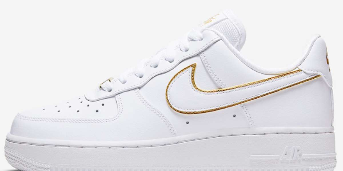 Best Selling Nike Air Force 1 Low Icon Clash White Metallic Gold Board AO2132-102