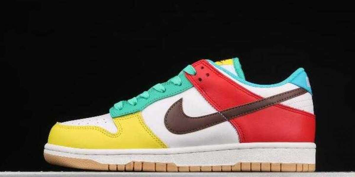 Hot Sale Nike Dunk Low SE Free 99 White LT Chocolate Roma Green DH0952-100 Shoes