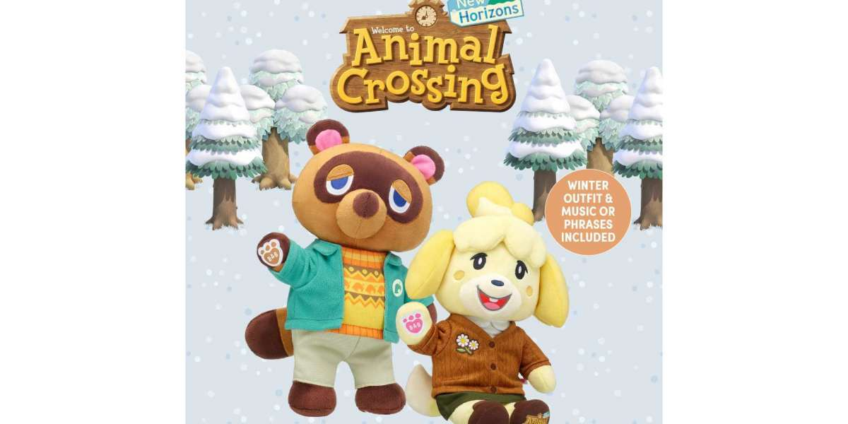 Build-A-Bear Now Sells Tom Nook and Isabelle's winter versions