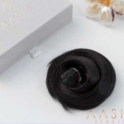 Buy Jet Black Clip in Hair Extensions Profile Picture