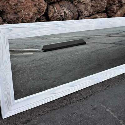 WHITE WOOD FRAMED MIRROR Profile Picture