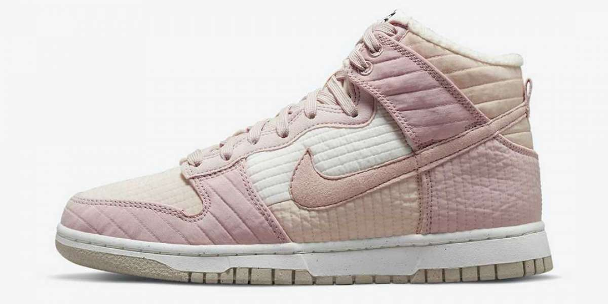 """""""Military coat"""" Dunk Hi has a new color! Nike Dunk High Wmns """"Toasty"""" Pink Cream DN9909-200 Hot Sell!"""