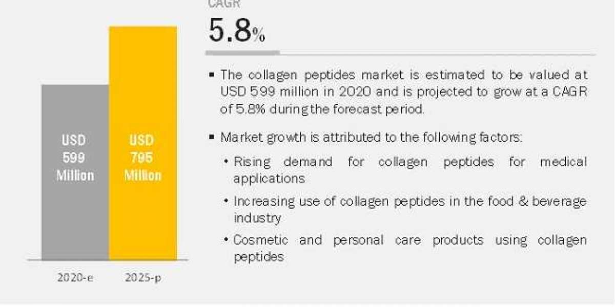 Collagen Peptides Market is Projected to Reach $795 million by 2025